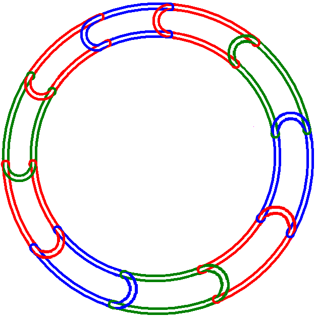 The Rubberband link with 10 components
